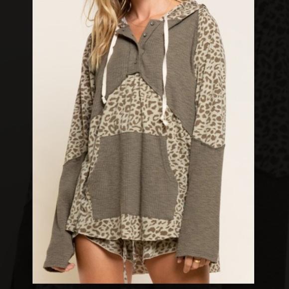 POL Tops - POL Leopard Hoodie
